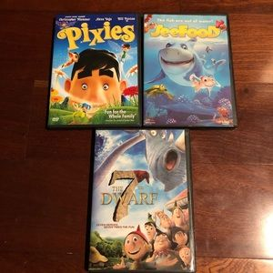 3 lot DVDs movies for kids